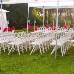 wynajem krzeseł białych składanych