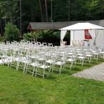 krzesła białe składane - wypożyczalnia krzeseł