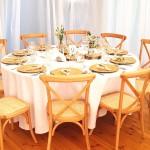 krzesła boho drewniane wypożyczalnia