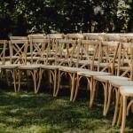 wypożyczone na ślub krzesła boho