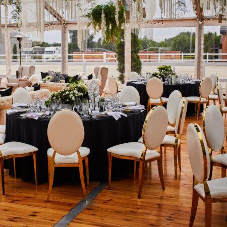 eleganckie krzesła Glamour wypożyczalnia